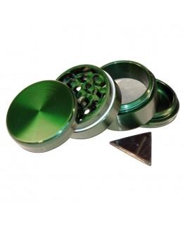 Metallgrinder mit Sieb - Grün