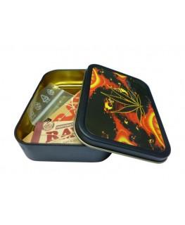 Metallbox - Cannabis Blatt
