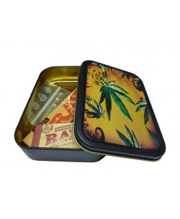 Metallbox - Cannabis Kunst