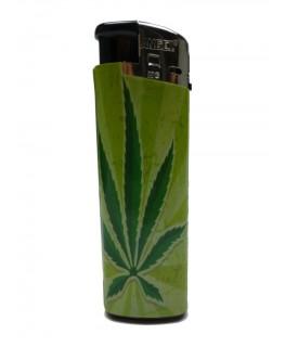 Feuerzeug Cannabis Green