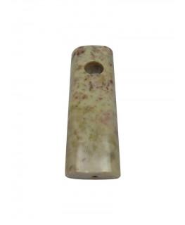 Steinpfeife flach hell L:9cm
