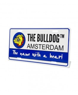 Metallschild The Bulldog Amsterdam