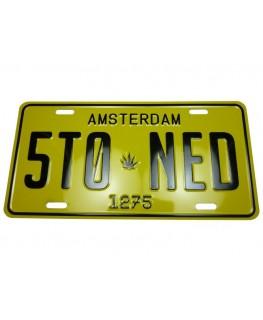 Metallschild Stoned