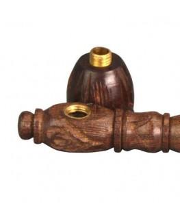 Holzpfeife verziert L:105mm