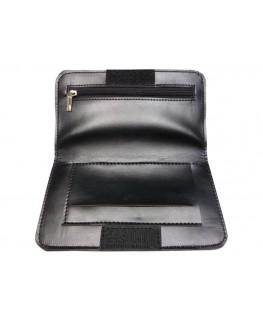 Tabaktasche Leder schwarz
