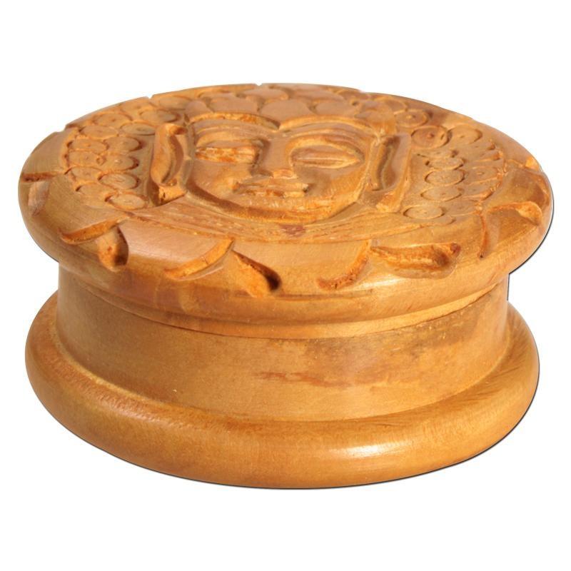 """Holz """"Grinder/Mühle/Cruncher"""" Buddha, Ø:51mm und 2-teilig"""