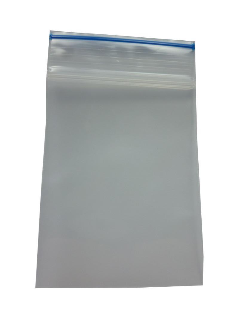 """""""Druckverschlussbeutel/Packs"""" 55x65x0.09mm dick und blauer Streifen"""