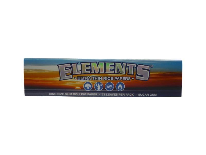"""""""Elements"""" King Size Slim Blättchen/Papers aus weißem Papier"""