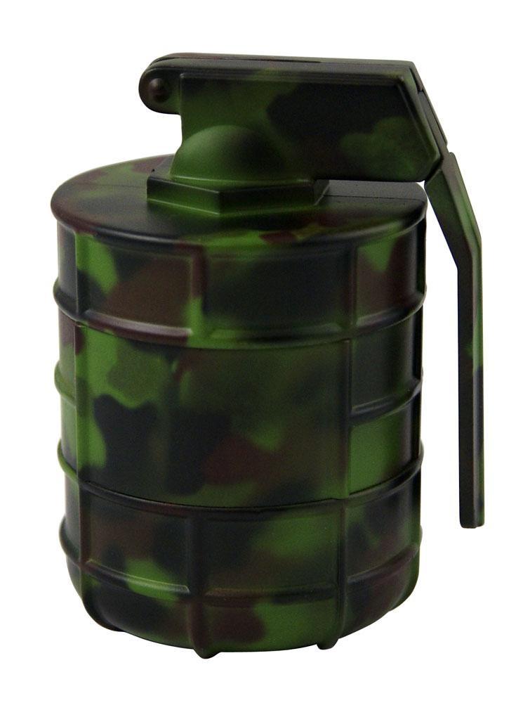 GER Granaten Metallgrinder mit Sieb, Camouflage, 3-teilig, Magnet & Ø:63mm