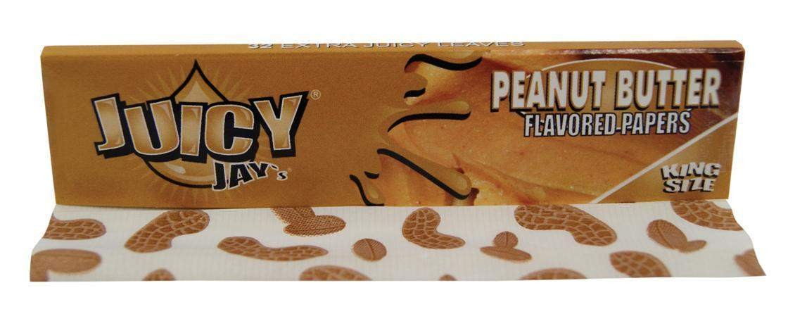 """Juicy Jay's"" King Size Slim Blättchen/Papers mit Peanut Butter Aroma"
