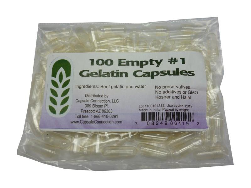 Leere Kapseln aus Gelatine zum selber befüllen & 100stk je Pack