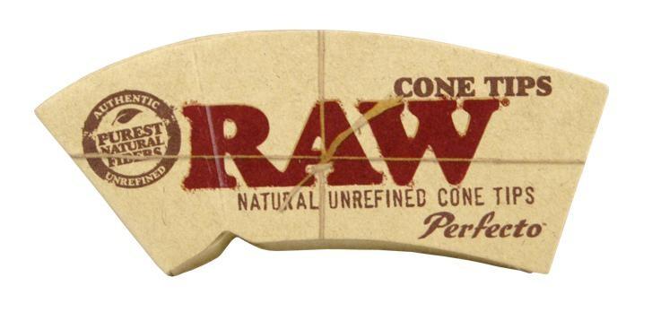 """Perforierte RAW Cone Filtertips """"Perfecto"""" aus ungebleichtem Papier"""