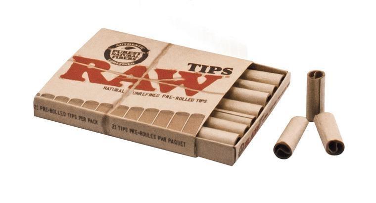 RAW Papier Filtertips Prerolled (vorgedreht)