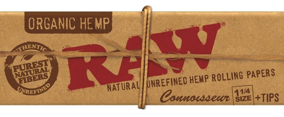RAW Organic Hemp Connoisseur 1 1/4 Size Blättchen/Papers