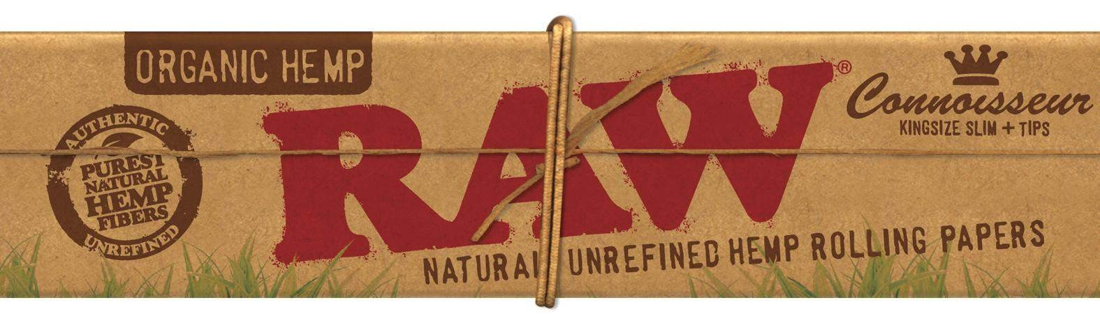 RAW Connoisseur King Size Slim Organic Hemp