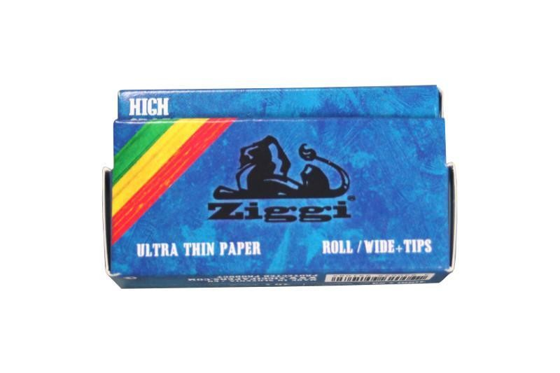 ZIGGI Rolls WIDE ultra thin Blättchen/Papers + Filtertips