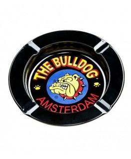 """Originaler Schwarzer Aluminium Aschenbecher von """"The Bulldog"""" aus Amsterdam"""