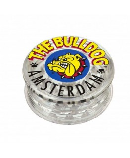 """The Bulldog Amsterdam"" Acrylgrinder transparent mit Magnet, 3-teilig & Ø:60mm"