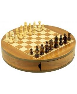 """Schachspiel magnetisch D""""30cm H""""5cm aufgebaut Frontansicht"""