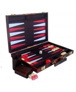 """""""Backgammon"""" Spiel im Koffer. Maße: 38 x 38cm (Farbe: Rot und Weiß)"""