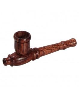 Holzpfeife mit Zylinder Kopf / Hut (Länge: 8cm)