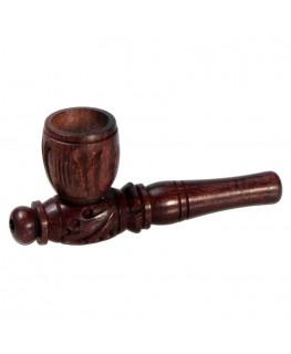 Holzpfeife verziert L:8cm