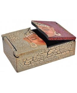 Schatulle / Box 12x18x6cm Buddha Motiv