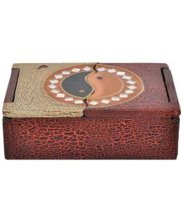 Schatulle / Box 12x18x6cm Ying Yang Motiv