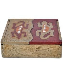 Schatulle / Box 20x20x6cm Gekko Motiv
