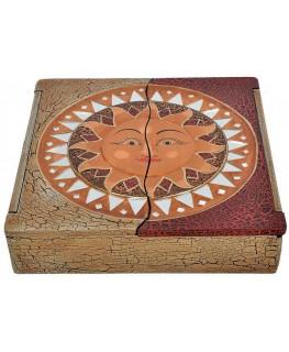 Schatulle / Box 30x30x7cm Sun Motiv