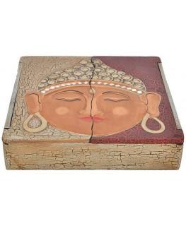 Schatulle / Box 30x30x7cm Buddha Motiv