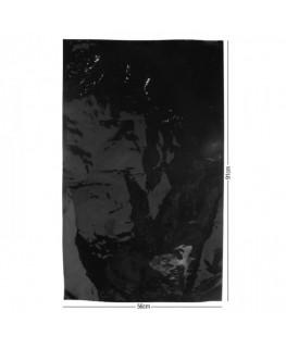 "Schwarzer ""Bügelbeutel"" aus Aluminium und 56x91cm. Extra Dick 0,125mm"