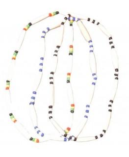 """Halskette Bone Perlen elastisch D""""13,5cm in Rasta, Blau oder Schwarz"""
