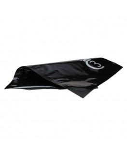 """""""Bügelbeutel"""" aus Aluminium in schwarz und 30x43cm."""