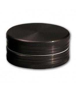 Metallgrinder in schwarz, 2-teilig, Gleitring und mit Magnet. Ø:40mm