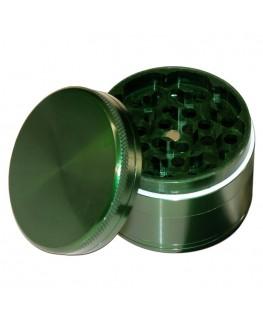 Grinder Alu 4tlg. Grün geschlossen, mit Deckel ab