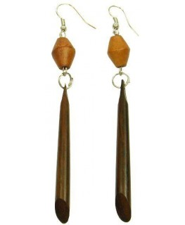 """Ohrringe Sabo-Holz elegant L""""90mm 1paar"""