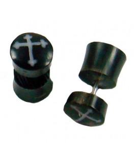 "Fake-Plugs Kreuz D""9mm"