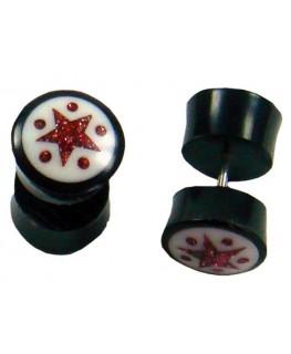 "Fake-Plugs Star D""11mm"