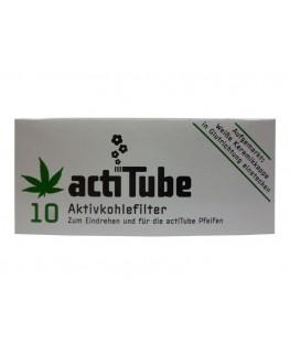 8mm Aktivkohlefilter von actiTube als 10er Verpackung. Der High-End Jointfilter!
