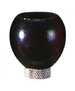 Holzkopf in braun, rund und einem Durchmesser von 20mm