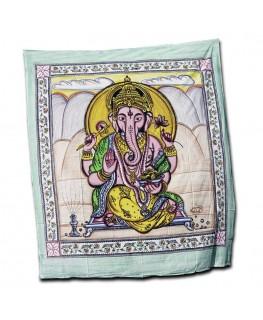 """Wandtuch/Tagesdecke"" Lord Ganesha aus Baumwolle (Maße: 2,10x2,40m)"