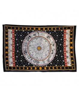 """""""Wandtuch/Tagesdecke"""" Horoskope in weiß aus Baumwolle (Maße: 2,10x2,40m)"""