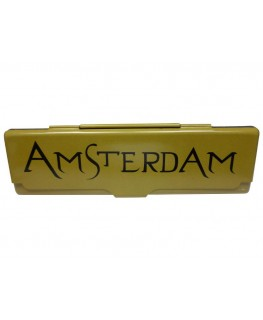 "Gold Amsterdam ""Blättchen Metallbox"" für King Size Papers"