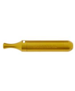 Metallpfeife Budbomb XL in gold mit Kühlspirale. Hergestellt in England