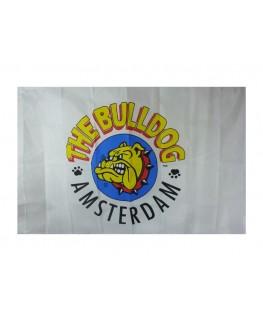 "Weiße ""Flagge"" vom Coffeeshop The Bulldog Amsterdam (Maße: 1,10x0,70m)"