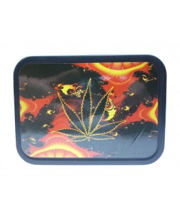 """Cannabis Blatt """"Metallbox/Tabakdose"""" mit Deckel & Gummidichtung."""