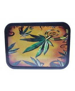 """Cannabis Kunst """"Metallbox/Tabakdose"""" mit Deckel & Gummidichtung."""