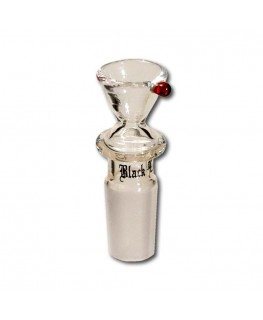 "Black Leaf Bong RS Flutsch ""Glaskopf/Hut"" mit 14,5er Schliff"