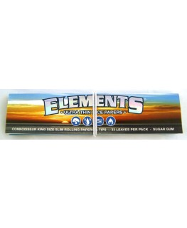 Elements King Size Slim Connoisseur, Blättchen/Papers + Tips (Geschlossen)